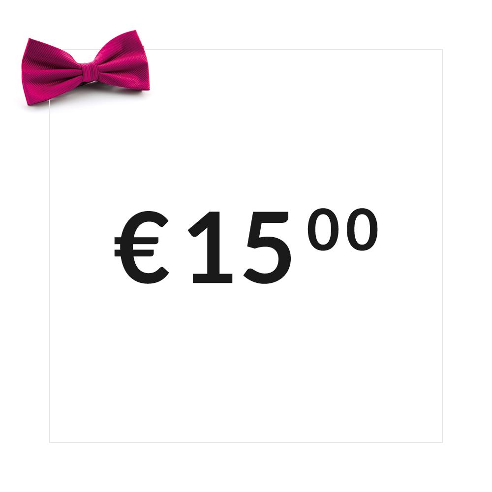 Cadeaubon t.w.v. 15 euro