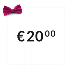 Cadeaubon t.w.v. 20 euro